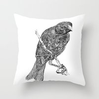 Lovely Bird Throw Pillow