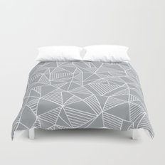 Abstraction Lines Grey Duvet Cover