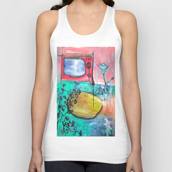 """TV Rose"" Unisex Tank Top"