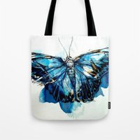 Mighty Morpho Butterfly Tote Bag