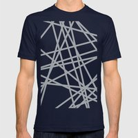 To The Edge Grey Mens Fitted Tee Navy SMALL
