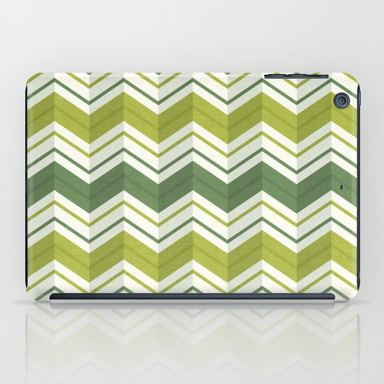 CHEVRON STRIPES - AVOCADO iPad Case
