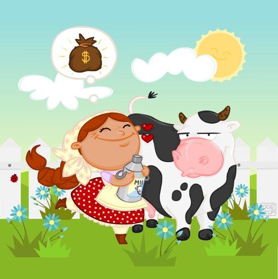 The milkmaid Art Print