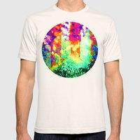 splattering a digital copy Mens Fitted Tee Natural SMALL