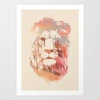Desert Lion Art Print