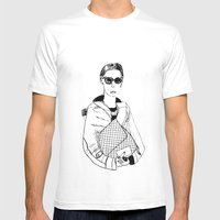 Bag Lady Mens Fitted Tee White SMALL