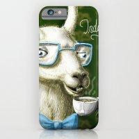 iPhone & iPod Case featuring The Fancy Llama by awkwardyeti