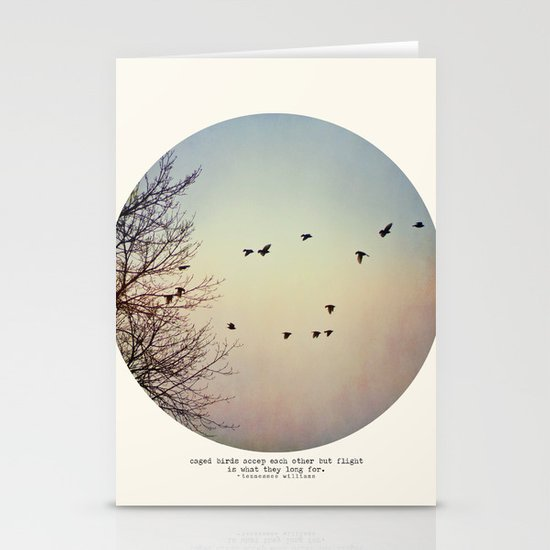 Caged Birds Stationery Card