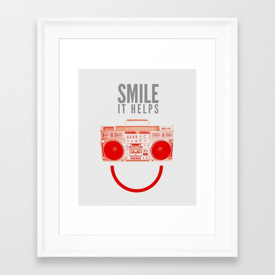 Smile. It Helps. Framed Art Print