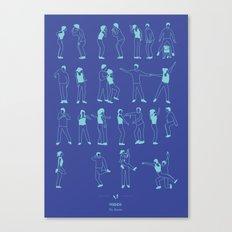 Friends: The Routine Canvas Print