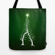 Christmas Tree Intertwined - painting Tote Bag
