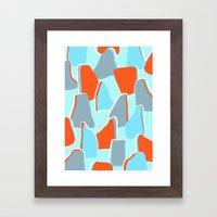 Blue Boulder Framed Art Print