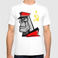 For Russia Mens Fitted Tee White SMALL