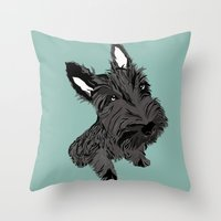 Scottie Throw Pillow