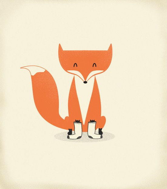 A Fox With Socks Art Print