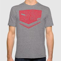 Metal Gear Solid Typogra… Mens Fitted Tee Tri-Grey SMALL