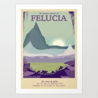 Retro Travel Poster Series - Star Wars - Felucia Art Print