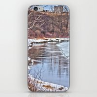 Snowy Riverbank iPhone & iPod Skin