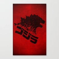 King of Monsters Canvas Print