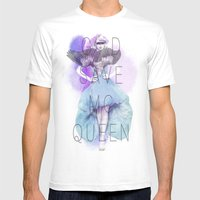 God Save McQueen Mens Fitted Tee White SMALL