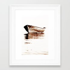 Wooden boat Framed Art Print