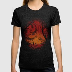 Intergalactic Womens Fitted Tee Tri-Black SMALL