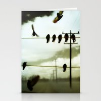 Stationery Card featuring Lines Of Communication by The Strange Days Of Gothicolors