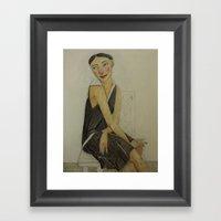 LADY KATE Framed Art Print