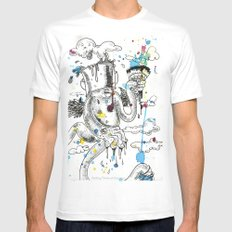 Paint The Sky Mens Fitted Tee White SMALL