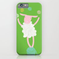 iPhone & iPod Case featuring sheep playing by PinkNounou