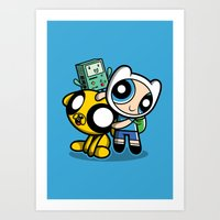 Adventure Puff Buds Art Print