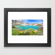 Framed Art Print featuring Mountains.. by 2sweet4words Designs