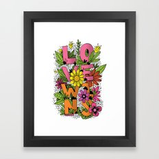 LOVE WINS Framed Art Print