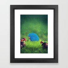 Blue Pet! Framed Art Print