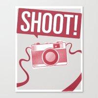 Shoot! Canvas Print