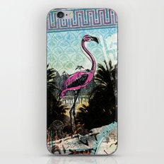 Palm trees and flamingos iPhone & iPod Skin