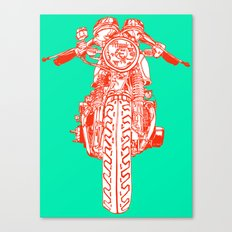 Cafe Racer front view Canvas Print