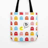 Pac-Man Trapped Tote Bag