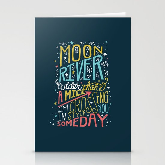 MOON RIVER Stationery Card