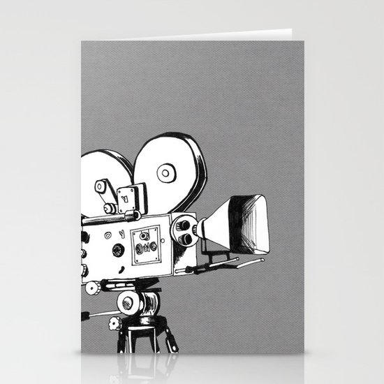vintage filming Stationery Card
