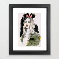Army Girl Framed Art Print