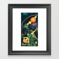 Midnight Sunbath Framed Art Print