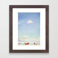 Lonely Skies - Playa del Carmen Framed Art Print