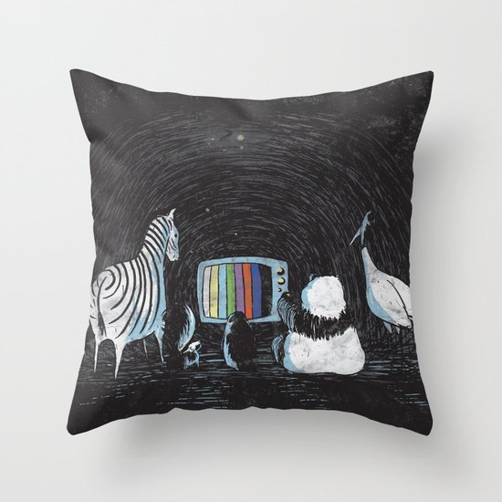 Now in Technicolour... Throw Pillow