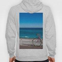 Beach and the bike - Nice, France summer Hoody