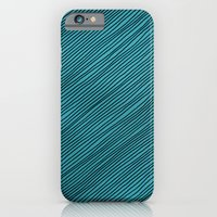 Stripes - Turchese iPhone 6 Slim Case