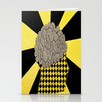 brain Stationery Cards featuring Brain by Art By Carob