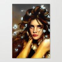 Natalia´s Hair Butterfl… Canvas Print