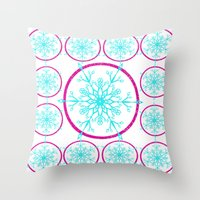 Dream-catching a Snowflake Throw Pillow