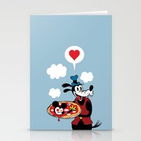 MICKEY'S PIZZA Stationery Cards